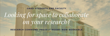Grad students and faculty project rooms now open